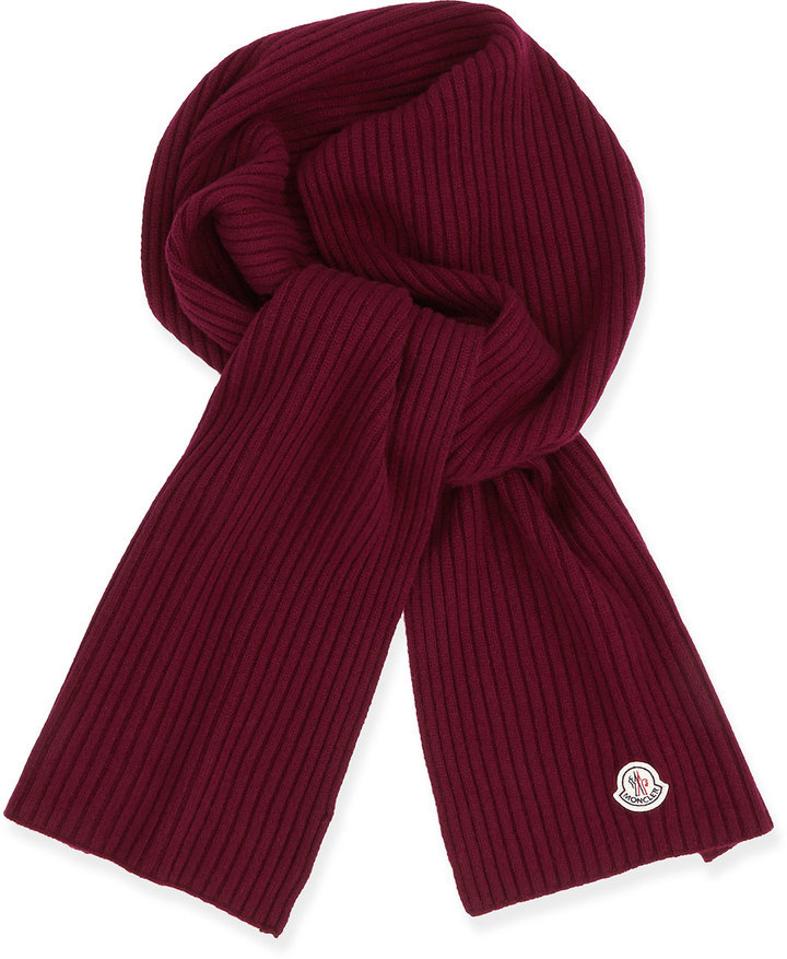 moncler red scarf