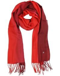 Mila Schon Gradient Burgundyred Wool And Cashmere Stole
