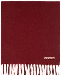 Acne Studios Red Wool Narrow Scarf