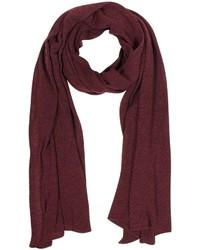 Solid burgundy wool blend stole medium 353007