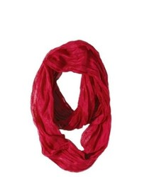 Sylvia Alexander Solid Infinity Scarf Red
