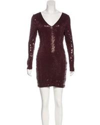 Robert Rodriguez Embellished V Neck Dress