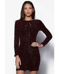 Dress the Population Long Sleeve Velvet Sequin Bodycon