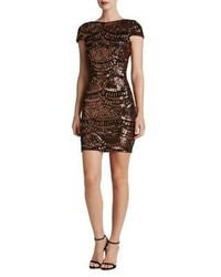 Dress the Population Sequined Scoopback Bodycon Dress