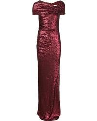 Badgley Mischka Long Sequinned Dress