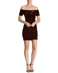Dress the Population Larissa Sequin Off The Shoulder Body Con Dress