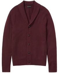 Burgundy Shawl Cardigan