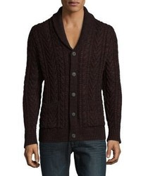 Lucky Brand Cable Knit Cotton Cardigan