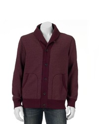 Sonoma Goods For Lifetm Shawl Collar Fleece Cardigan