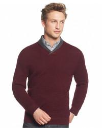 Merino wool double shawl collar sweater only at macys medium 331791