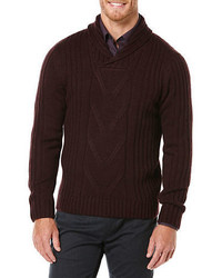 Perry Ellis Shawl Collar Sweater