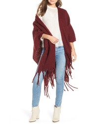 Free People Madison Fringed Wrap