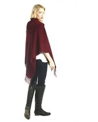 Simplysoles simply soles tasseled hood shawl medium 126856