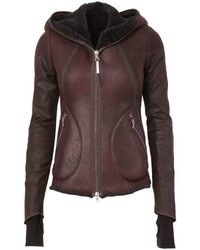 Isaac Sellam Experience Wool Lined Leather Jacket