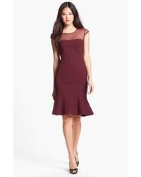 Burgundy sheath dress original 9811992