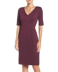 Seamed ponte sheath dress medium 817573