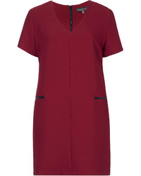 Burgundy shift dress original 10070904