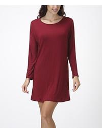 Bellino Burgundy Shift Dress
