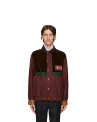 Gucci Brown And Burgundy Gg Mignon Jacket