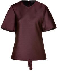 Burgundy short sleeve blouse original 1289211