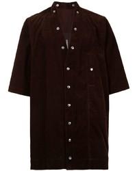 Rick Owens Short Sleeved Button Up Shirt