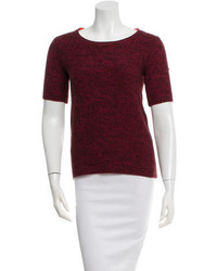 Burgundy Short Sleeve Sweater