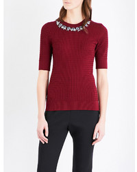 Erdem Dree Embellished Wool Blend Jumper