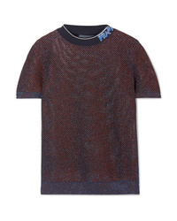 Prada Med Metallic Knitted Top