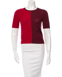 Carven Wool Colorblock Sweater