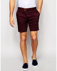 Men's Burgundy Shorts by Asos   Men's Fashion