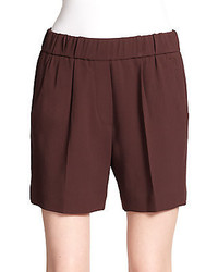 Brunello Cucinelli Elastic Waist Wool Shorts