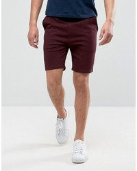 Skinny jersey shorts in burgundy medium 3726885