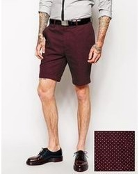 Men's Burgundy Shorts by Asos | Men's Fashion