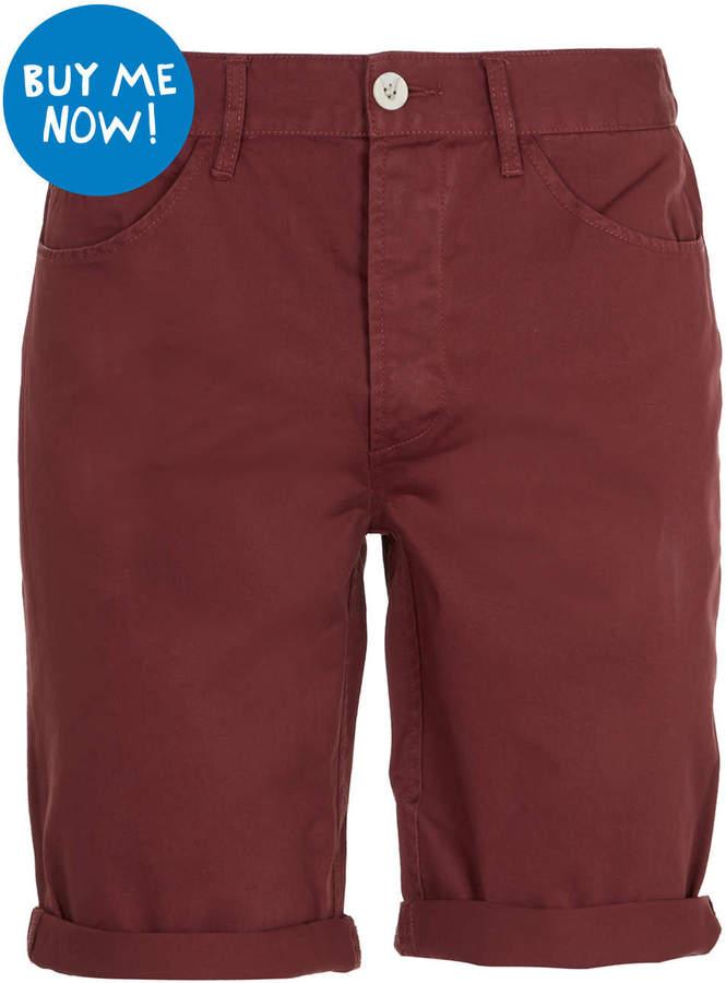 Topman Burgundy Chino Shorts   Where to buy & how to wear