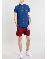 Topman Burgundy Shorts   Where to buy & how to wear