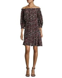 Saloni Grace Silk Short Dress