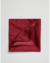 Asos Brand Wedding Pocket Square In Silk Wine