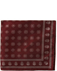 Alexander McQueen Foulard Jacquard Silk Pocket Square