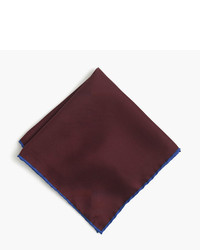 Tipped italian silk pocket square in blue medium 775869