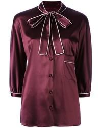 Dolce gabbana pussy bow shirt medium 830670