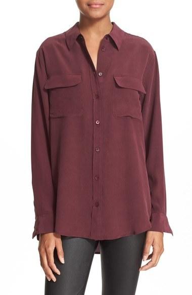 a2212456e5111 ... Equipment Slim Signature Silk Shirt ...