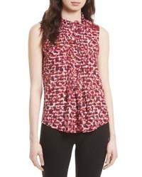9477405273b7d Burgundy Silk Sleeveless Tops for Women