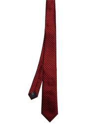 Lanvin Micro Dot Jacquard Silk Tie