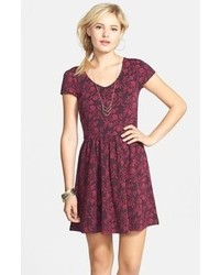 Burgundy skater dress original 1421403