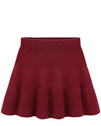 Burgundy skater skirt original 1481991