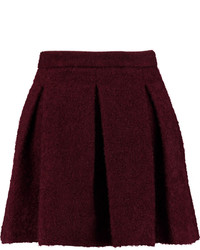 Karl Lagerfeld Hadly Pleated Woven Mini Skirt