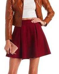 Charlotte Russe Textured Pleated Skater Skirt