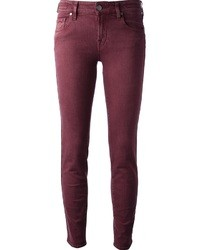 Burgundy Skinny Jeans | Women's Fashion