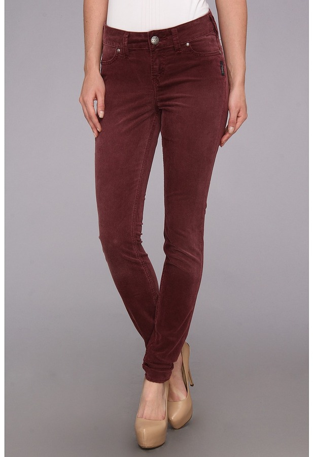 Silver Jeans Co Suki Jegging In Burgundy | Where to buy & how to wear