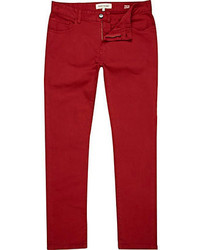 Naked Famous Denim Skinny Guy Skinny Leg Stretch Jean In Burgundy ...